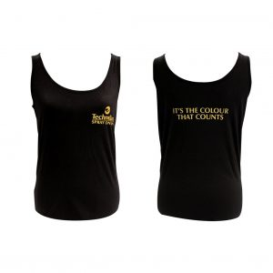Ladies TechnoTan Singlets - Black Style 2