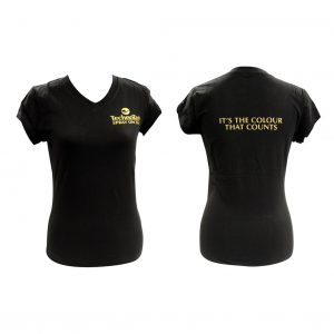 Ladies TechnoTan V-Neck - Black Type 2