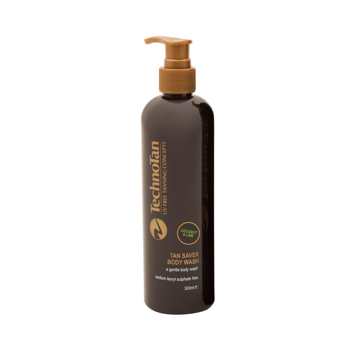 Tan Saver Body Wash — Coconut & Lime — 300ml (pump bottle)