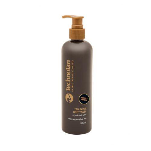 Tan Saver Body Wash — Peach & Vanilla — 300ml (pump bottle)