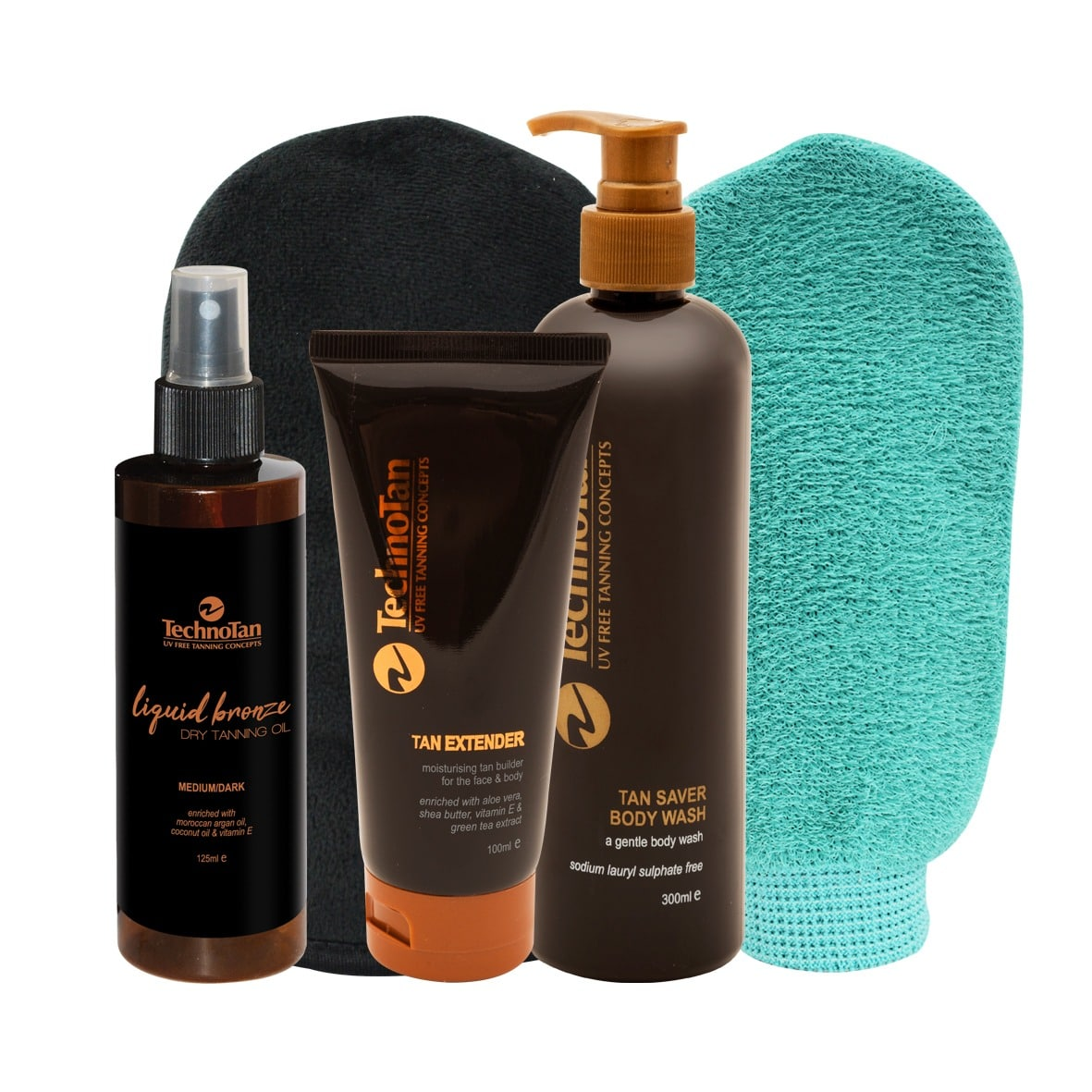 Complete Tanner Premium Pack With Dry Tanning Oil - Coconut & Lime