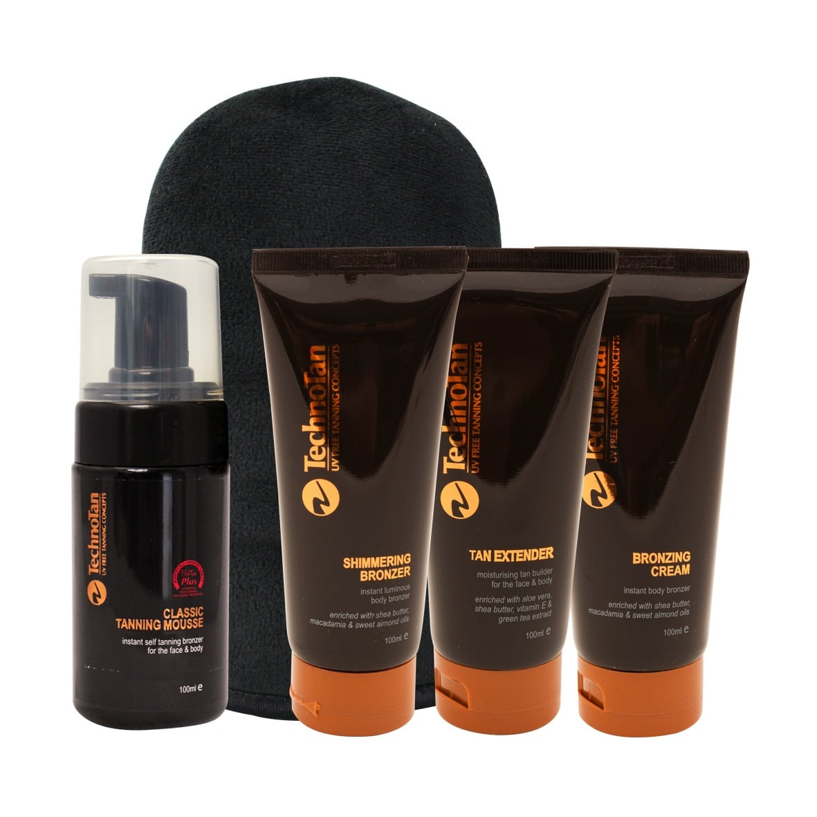 Tan Fanatic Product Pack with Mousse and Premium Mitt - Small Caramel