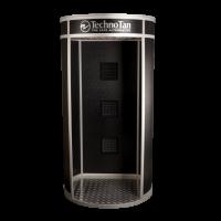 TechnoTan Round Spray Tanning Pod (3 Extraction Fans) - LED Lights